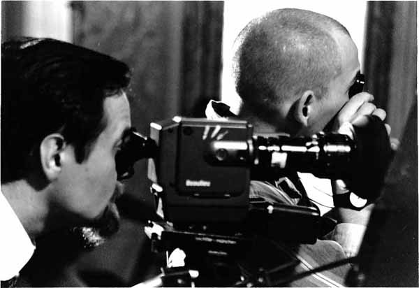 "Director Holger Mandel and Cinematographer Ralf Schlotter during filming of ""Szamota's Mistress"" (Szamotas Geliebte)"